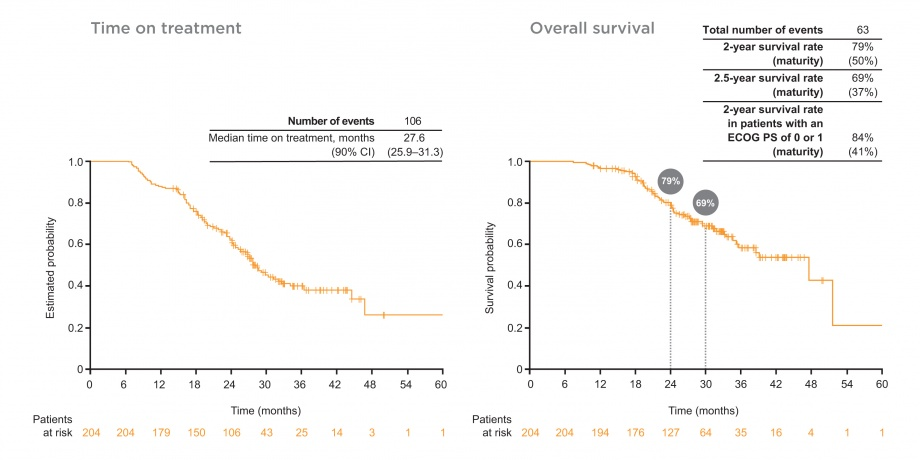 GioTag study: time on treatment and overall survival