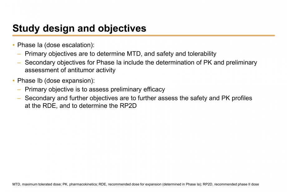 Study design and objectives