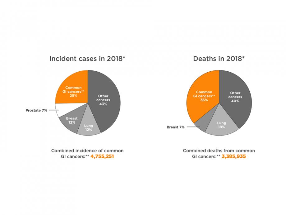 Global GI cancer incidence and mortality