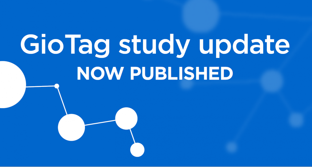 GioTag study update: now published
