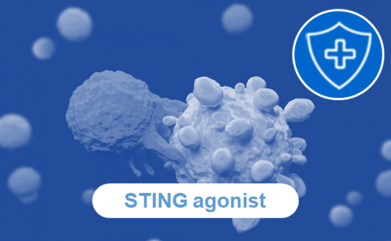 Our investigational STING agonist