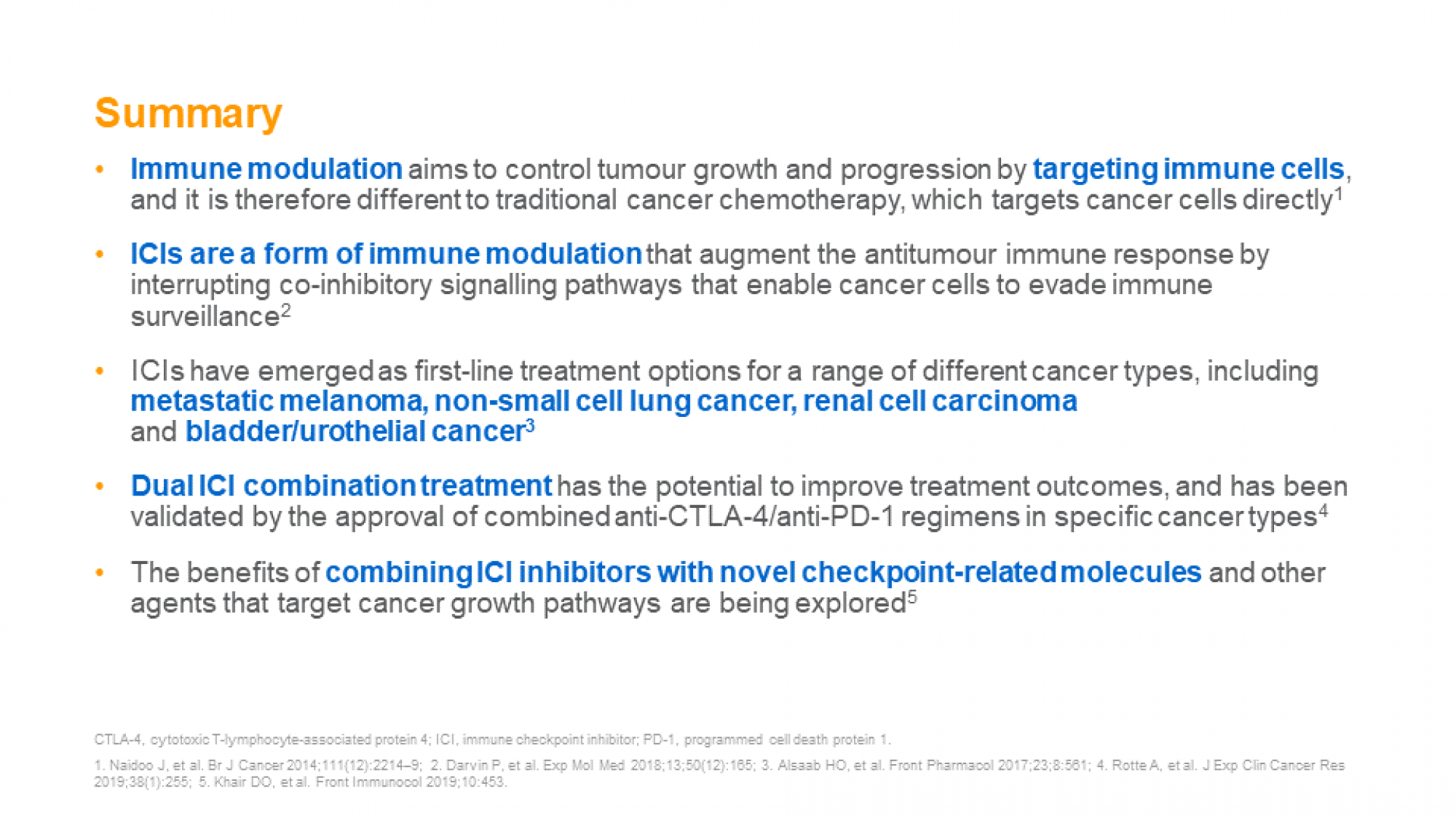 immuno-oncology and checkpoint inhibition